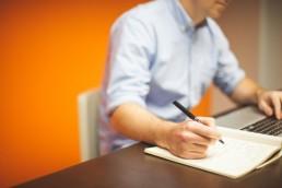 Male writing pad keyboard office